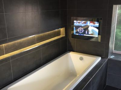 Bathroom TV Electrics installation in Brighton