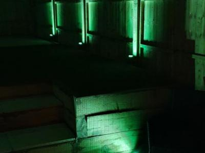 Colour changing LED Garden lighting in Brighton - Green