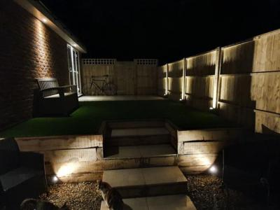 Colour changing LED Garden lighting in Brighton - Daylight
